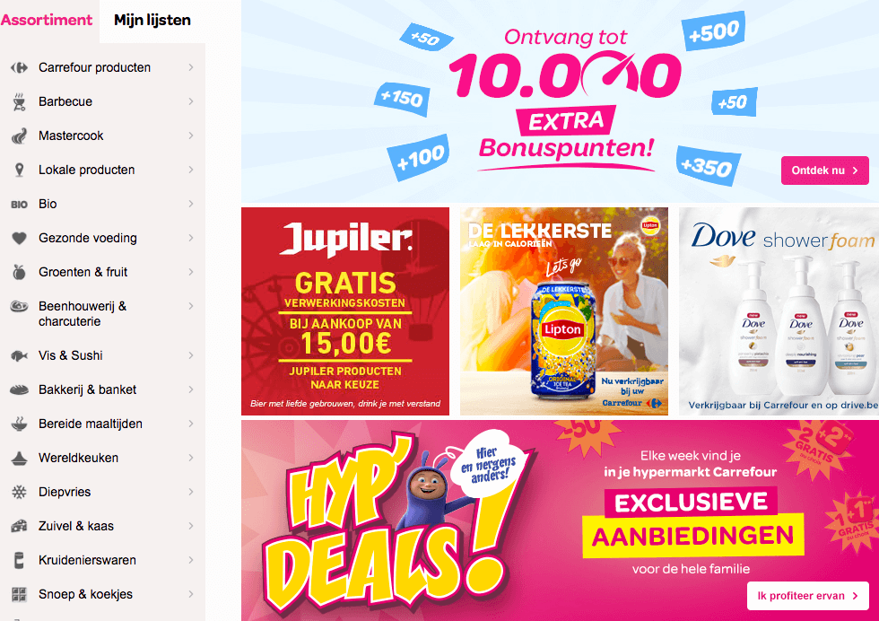 online supermarkt aanbiedingen